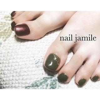 左右違ったアシンメトリーフット❤️ いつもおしゃれなフットネイルを ありがとうございます✨😍 * * ご予約はこちらから👇 ☎️080-6359-0209  LINE🆔@jamile * * * #ネイル#ジェルネイル#フィルイン#フィルイン一層残し#nail#nails#footgel#fashion#ootd#gelnail#gelnail#nailart#like4like#followme#instanail#art#gel#instagood#nailjamlle#jamile#ジャミール#ネイルジャミール#followmefollowyou #vetro#vetro_tokyo#富山市#ネイルサロン#富山市ネイルサロン#富山ネイルサロン#富山市ネイルジャミール#ハロウィンネイル #秋 #梅雨 #ハロウィン #クリスマス #フット #ワンカラー #ショート #グリーン #ボルドー #ブラウン #ジェル #お客様 #JAMILE #ネイルブック