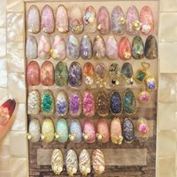 Nail room R  Original stone sample💅 人気の物ばかりのsampleです♥ ■天然石 ■druzy ■Avril  等など #nail #nails #naildesign #gelnail #fashion #art #beauty #turquoise#stoneart #artist #bijou #followme #stone#instanail #texture #天然石ネイル #druzy #네일 #美甲 #美甲店 #美甲设计 #model #World#lesson#ネイル #ジェルネイル#네일 #디자인 #아트#네일스타그램#천연석 #Nailroom_r #ネイルブック