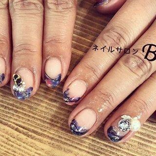 ニュアンスネイル💅 秋の新作color #かっこかわいい ❤️ #変形フレンチ 創作ネイル💅💅💅 いつもありがとうございます✨ #nail#nails #nailart #nailist #nailswag #gelnail #gelnails #ニュアンスネイル#塗りっぱなしネイル#オシャレカフェ #ステンドグラス#naildesigns #naildesign #nailstyle #fashion #オシャレ#autumnnails #秋ネイル#ネイルデザイン#ネイル#富山市ネイルサロン#富山ネイル#ネイルサロンBe#네일#photo#instagood#お洒落さんと繋がりたい #冬 #オールシーズン #リゾート #女子会 #ハンド #ステンドグラス #ニュアンス #プッチ #ギャラクシー #ミディアム #ブルー #ブラック #シルバー #ジェル #お客様 #ネイルサロンBe #ネイルブック