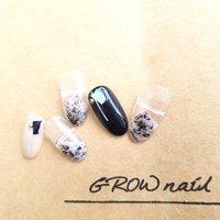 大人ニュアンス #GROW nail #ネイルブック