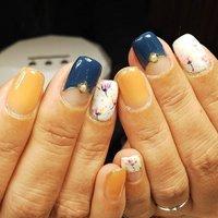 😊 いつもきれいに保ってくれる美爪さん💅  #nail#jel#jelart#jelnail#shortnails#flowernails#springnails#自宅ネイル#フィルイン#春ネイル#スクエアネイル #Nijiho #ネイルブック
