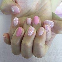 OLネイルです! 親指はかけてしまったみたいなので、長さ出しを行いました✨ #yuri #ネイルブック