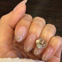 my nail #パーティー #ハンド #グレージュ #ジェル #mai.r2k #ネイルブック