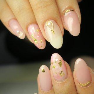 #春 #入学式 #デート #女子会 #ハンド #ワンカラー #タイダイ #大理石 #ニュアンス #ミディアム #ホワイト #ピンク #ジェル #lovejewelry nail #ネイルブック
