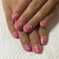 お花見シーズンに桜ピンク色で♡ #春 #オフィス #デート #女子会 #ハンド #グラデーション #ピンク #ジェル #お客様 #Yuka Ohkubo #ネイルブック