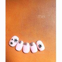 ピンクミラーネイル♡ カッコ可愛く╰(*´︶`*)╯♡ #春 #夏 #女子会 #ハンド #ショート #ネイルチップ #八木藍 #ネイルブック
