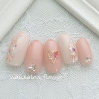 シェルとハート☺︎  instagram→flower.idogaya LINE@→@sbq5559w  #春 #夏 #オフィス #デート #シェル #ハート #ピンク #ネイルチップ #nailsalon flower #ネイルブック