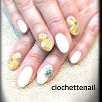 Yellow marble #clochettenail #ネイルブック