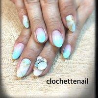 Green stone #clochettenail #ネイルブック