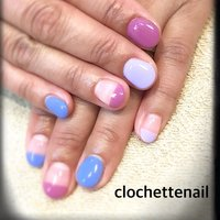 Color French #clochettenail #ネイルブック
