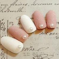 ♡スノーフレークパウダーネイル♡ #冬 #クリスマス #パーティー #デート #ハンド #パール #雪の結晶 #ホワイト #ピンク #Nail salon Jewel #ネイルブック