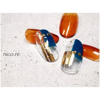 夏に向けて涼しげなクール系デザイン😎✨  -------------------------------  ご予約受付中(^-^)  ご新規様1000円オフ✨ or 他店様オフ無料✨  ご予約お待ちしております♡  -------------------------------  #nail#nails#nailart#naildesign#instanail #nailist #ネイル#ネイルアート#ネイルデザイン#gelnail #ジェルネイル #奈良県ネイル#橿原ネイル#橿原市ネイルサロン #ネイルアトリエ#nicore#ニコリ #nicoremike#ニコリミケ#大人ネイル#powerbasemeister #パワーベースマイスター #パワーベース #爪に優しいジェル#クリアネイル #クール#ゴールド#シンプル#ワンカラー #夏 #海 #シンプル #ワンカラー #シースルー #ジオメトリック #ブロック #グリーン #ブラウン #ゴールド #ジェル #みけ #ネイルブック
