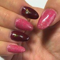 大人のシンプルさに ピンクでかわいいらしさを プラス #ハンド #ロング #ピンク #ブラウン #ジェル #aki7257 #ネイルブック
