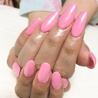 ミラーネイルのオーロラをピンクのカラーにかけて華やかに♪ #春 #夏 #秋 #デート #ハンド #ロング #ピンク #ジェル #お客様 #you_me #ネイルブック