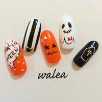 #nail #nailart #naildesign #nailsalon #gelnail #walea #ネイル #ネイルアート #ネイルデザイン #ネイルサロン #ジェルネイル #表参道 #外苑前 #ワレア #パラジェル #エースジェル #バイオジェル #ハロウィン #nail_walea #ネイルブック
