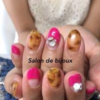 ピンク大人気です♪ #秋 #冬 #パーティー #デート #ハンド #アニマル柄 #ミディアム #ピンク #ブラウン #ジェル #お客様 #salon_de_bijoux #ネイルブック