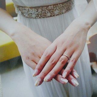 wedding nail #ブライダル #ハンド #ミディアム #クリア #tomiko #ネイルブック