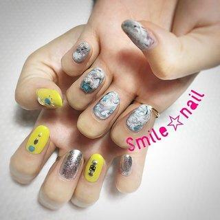 大田原定額ネイルサロン Smile☆nailです(*^^*) お持込みデザインです💅 お客様初チャレンジのイエロー♪ 夏らしい雰囲気に仕上がりました(๑˃̵ᴗ˂̵)و̑̑ 左右バラバラのアシメもお初😋 いつもありがとうございます(=´∀`)人(´∀`=) ☆,。・:*:・゚'☆,。・:*:・゚'☆,。・:*:・゚' #smilenail #スマイルネイル #大田原市ネイルサロン #大田原ネイルサロン #定額ネイル #お家サロン #ネイルサロン #ジェルネイル #セルフネイル #ネイルアート #ネイリスト #個性派ネイル #派手カワネイル #美爪 #ネイルチップ #オーダーチップ #ミンネ #minne #アシメネイル #夏ネイル #ニュアンスネイル ☆,。・:*:・゚'☆,。・:*:・゚'☆,。・:*:・゚' HPはプロフィールのURLから☆ ☆,。・:*:・゚'☆,。・:*:・゚'☆,。・:*:・゚' フリルでピアス ミンネでネイルチップを販売してます ٩( ᐛ )و  Smile☆nail https://minne.com/5116ykr - ハンドメイドマーケットminne(ミンネ) Smile☆bijou フリマアプリ FRIL https://fril.jp/shop/Smile_bijou #夏 #旅行 #リゾート #女子会 #ハンド #ニュアンス #ホイル #マーブル #ミディアム #イエロー #シルバー #モノトーン #ジェル #Smile☆nail #ネイルブック