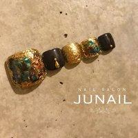 Instagram→junail.jun ホットペッパー掲載中☆ #フット #june #ネイルブック