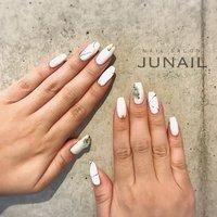 Instagram→junail.jun ホットペッパー掲載中☆ #ハンド #june #ネイルブック