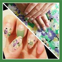 花柄ネイル🌸 #春 #夏 #デート #女子会 #pulituraあき #ネイルブック