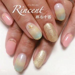 """夏に人気の3色グラデです♪🌈 ヒトデパーツと相性バッチリ🙆♀️✨ ありがとうございました😊❣️ ㅤㅤㅤㅤㅤㅤㅤㅤㅤㅤㅤㅤㅤ ㅤㅤㅤㅤㅤㅤㅤㅤㅤㅤㅤㅤㅤ ㅤㅤㅤㅤㅤㅤㅤ """"Rincentはお爪に優しいカルジェル仕上げを低価格でお楽しみ頂けるプライベートサロンです。お爪が弱ってしまっているお客様も、オフしやすくお爪を傷めないジェルなので自爪を育成しながらネイルを続けて頂けます"""" ㅤㅤㅤㅤㅤㅤㅤㅤㅤㅤㅤㅤㅤ  #ネイル #nail #ジェルネイル #ピンクネイル #3色グラデ #ヒトデ #オフィスネイル #旅行ネイル #大人ネイル #上品ネイル #夏ネイル #夏ネイル2018 #リピサロ #可愛い #ネイルデザイン #大人可愛いネイル #trend #instagood #instanails #like #cute #meryネイル #calgel #カルジェル #네일 #instalike #beautiful #フォローミー #Rincentネイル #麻布十番ネイルサロン #夏 #海 #リゾート #ハンド #グラデーション #スターフィッシュ #マリン #ショート #ピンク #イエロー #ターコイズ #ジェル #お客様 #chii #ネイルブック"""
