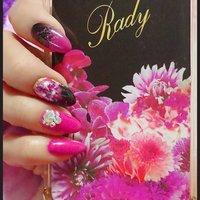 #ミディアム #ピンク #パープル #ブラック #セルフネイル #モニー #ネイルブック