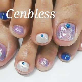 『成増ビューティスタジオCenbless(センブレス)』http://cenbless.com/ @cenbless#Cenbless#センブレス#成増#赤塚#東武練馬#和光市#志木市#成増ネイル#板橋区ネイル#noevir#lucugel#nail#newnails#nailart#nailsalon#gelnail#hpb_nail#nailbook#ネイルサロン#ジェルネイル#ネイルデザイン#定額ネイル#純国産#化粧品登録済#ルクジェル#ルクジェルエデュケーター#プリジェルエデュケーター#フットネイル#夏ネイル #夏 #七夕 #海 #リゾート #フット #ワンカラー #ニュアンス #ホイル #木目調 #ショート #ブルー #パープル #シルバー #ペディキュア #お客様 #中野千恵❇Cenbless(センブレス) #ネイルブック