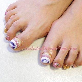 #ピーコック でした♡ 久々の#フットネイル でテンション上がりますね〜 . . #nail#nailsalonDreamsComeTrue#design#art#naildesign#nailart#nailist#foot#footnail#care#beauty#classy#ネイル#大人ネイル#派手ネイル#ネイルデザイン#ネイルアート#デザイン#アート#ロングネイル#ロングスカルプ#スカルプ#longnail#あま市ネイルサロン#nails#nailstagram #夏 #オールシーズン #パーティー #デート #フット #ラメ #ワンカラー #ピーコック #ショート #ホワイト #ピンク #パープル #ジェル #お客様 #chie75☆ #ネイルブック