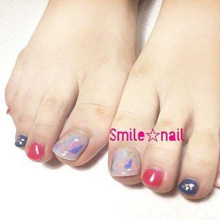 大田原定額ネイルサロン Smile☆nailです(*^^*) 夏アートと秋色の共演♪ 親指は夏の雰囲気を残した、クリアからーで 他の指は秋に向けて、少しマットなカラーを(๑˃̵ᴗ˂̵)و̑̑ お忙しい中ありがとうございました😊 是非またお待ちしてます☆ ☆,。・:*:・゚'☆,。・:*:・゚'☆,。・:*:・゚' #smilenail #スマイルネイル #大田原市ネイルサロン #大田原ネイルサロン #大田原定額ネイル #定額ネイル #お家サロン #ネイルサロン #ジェルネイル #セルフネイル #ネイルアート #ネイリスト #個性派ネイル #派手カワネイル #美爪 #ネイルチップ #オーダーチップ #ミンネ #minne #フットネイル #夏ネイル #秋ネイル ☆,。・:*:・゚'☆,。・:*:・゚'☆,。・:*:・゚' HPはプロフィールのURLから☆ ご予約の際は以下ドメイン、アドレスが受信出来るように設定をお願い致します。 yukari51fj@gmail.com @reserva.be ☆,。・:*:・゚'☆,。・:*:・゚'☆,。・:*:・゚' フリルでピアス ミンネでネイルチップを販売してます ٩( ᐛ )و  ネイルチップ→ミンネ https://minne.com/5116ykr (スマイルネイルで検索‼︎) ピアス→フリル  https://fril.jp/shop/Smile_bijou (スマイルビジュー ネイリストで検索‼︎) #夏 #秋 #デート #女子会 #フット #オーロラ #ショート #ホワイト #レッド #ネイビー #ジェル #お客様 #Smile☆nail #ネイルブック