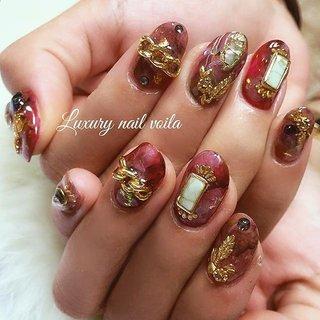 """. . Luxury nail coordinate style 1 . . Thanks lover❤️ . . """"Autumn resort×boho nail style """" . . reserve ↓↓↓ ◽︎Nailie..................profileのlinkから. ◽︎Nail book....小岩ネイルサロンで検索. ◽︎Line...........................@yqv5315c. . . #일본 #네일스타그램 #ネイル  #ネイルアート  #ネイルデザイン  #ジェルネイル  #小岩ネイルサロン  #nail #nails  #nailart #nailswag  #nailpolish  #nailsoftheday  #naildesign  #naildesigns  #nails2inspire  #nailporn  #秋ネイル #luxurynailvoila  #resort  #boho  #天然石ネイル  #個性的ネイル #ボルドーネイル  #ファッションネイル #jelnail  #派手ネイル  #デザインネイル  #オシャレネイル  #nailist  @nailist_maki #秋 #ハンド #アンティーク #ボヘミアン #タイダイ #大理石 #ニュアンス #ミディアム #ボルドー #ブラウン #アースカラー #ジェル #お客様 #Nailist maki #ネイルブック"""