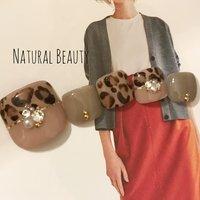 #秋 #冬 #フット #レオパード #ネイルチップ #naturalbeauty #ネイルブック