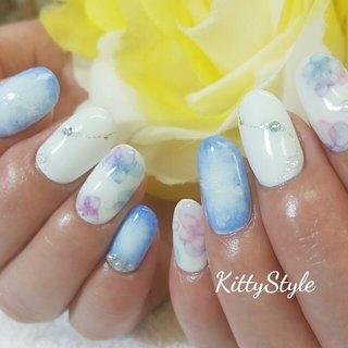 紫陽花ネイル♡ #kittystyle #ネイルブック