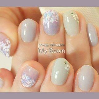 紫陽花ネイル♪ #my_room #ネイルブック