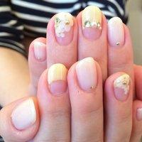#Nailbook #春 #ハンド #3D #ミディアム #ホワイト #ジェル #お客様 #Ayumi Kunii #ネイルブック
