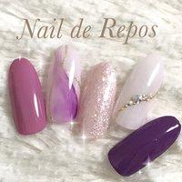 #ピンク #パープル #Nail de Repos〜ルポ〜 #ネイルブック