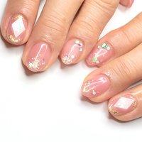 #宝石ネイル#ピンクネイル#ピンクネイルデザイン #オールシーズン #ハンド #シンプル #ラメ #ワンカラー #ホログラム #クリア #ピンク #ジェル #お客様 #nail salon Lamer(ラメール) #ネイルブック