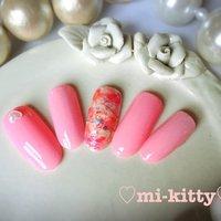 ピンク!ピンク!ピンクーー!!(灬ºωº灬)♡ #オールシーズン #デート #ハンド #ホログラム #パール #ハート #タイダイ #マーブル #ロング #ピンク #ネイルチップ #♡mi-kitty♡ #ネイルブック