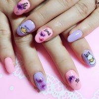 #春 #夏 #デート #ピンク #ブルー #パステル #お客様 #moodNail #ネイルブック
