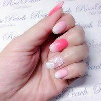 #BeautySalonRosePeach #my nail #ベビーブーマーネイル #レースネイル #自爪育成サロン西宮 #RosePeach #ネイルブック
