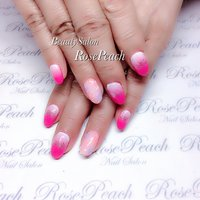 #BeautySalonRosePeach #グラデーション #自爪育成サロン西宮 #ピンク #RosePeach #ネイルブック