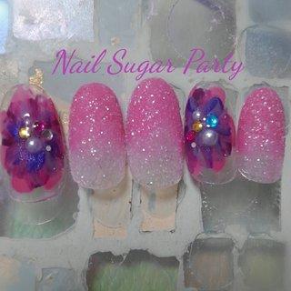 #シュガーネイル #springnails #オールシーズン #バレンタイン #リゾート #デート #グラデーション #ワンカラー #シュガー #ピンク #ネイビー #パープル #ネイルチップ #Nail Sugar Party ~ネイルシュガーパーティ~ #ネイルブック