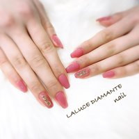 #春 #夏 #ハンド #ピンク #LA LUCE DIAMANTE #ネイルブック