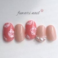 #春ネイル #フラワー #フラワーネイル #ピンク #ブライダル #春 #ふわり♡ #ネイルブック