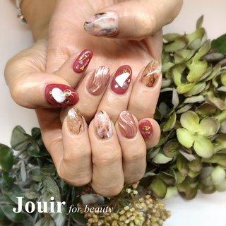 #シェル #大理石 #ニュアンス #ミラー #ワイヤー #クリア #ピンク #ボルドー #Jouir for beauty - hair nail eyelash- #ネイルブック