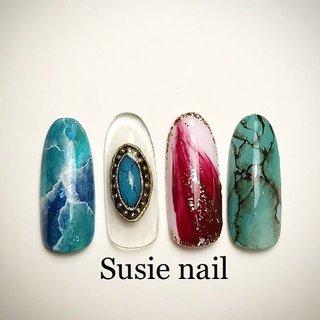 こちらは1本 ¥400 カラー変更可能です🌺  基本料金¥4500+お好きなアート 追加可能です🦋✨ FOOTアートにもできます💅🏽  #nail #nails #nailstagram  #nailart #gelnails #gelnail  #ネイル #ジェルネイル #ジェルネイルデザイン #ネイルデザイン #美爪 #ネイリスト #手描きアート #ニュアンスネイル #ネイルアート #サンプルチップ #お客様ネイル #トレンドネイル  #フットジェル #個性的ネイル  #プライベートサロン #相模原ネイルサロン #相模原 #ホームサロン  #相模原ネイル #riccagel #pregel #ネイルアートサンプル #ターコイズネイル #オールシーズン #旅行 #海 #リゾート #ハンド #ボヘミアン #エスニック #ネイティブ #大理石 #ニュアンス #ミディアム #ターコイズ #ボルドー #アースカラー #ジェル #ネイルチップ #kanaeshiokawa #ネイルブック