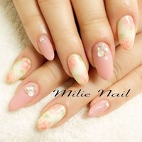 ニュアンスフラワーネイル♡ #春ネイル #フラワーネイル #ジェルネイル  #ピンクネイル #ニュアンスネイル  #ビジューネイル #手描きアート #ミリーネイル #札幌ネイルサロン #milienail #nail #nailart #gelnails #pinknails #flowernails #sapporo #春 #入学式 #ハンド #ワンカラー #ビジュー #フラワー #ホワイト #ベージュ #ピンク #ジェル #お客様 #milienail #ネイルブック