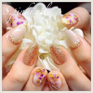 春のフラワーnail🏵 ・ ・ 黄色×むらさきのおはな⑅◡̈* ・ リペアと長さだしもあります。 長さが揃うとキレイで気持ちいいです☆ ・ ・ ・ #フラワーネイル#flowernails #イエローネイル #パープルネイル  #春ネイル #春ネイル2019  #ドライフラワーネイル #シェルネイル  #カラフルネイル #yellownails #purplenails #springnails #派手ネイル  #キラキラネイル  #お洒落ネイル #nailstagram #セルフネイル #newnails #네일 #钉子 #美甲  #instagood #instanails  #ネイル #nails #ジェルネイル #ネイルアート #ネイルデザイン #ショートネイル #ネイル好きな人と繋がりたい #春 #入学式 #旅行 #女子会 #ハンド #ラメ #ビジュー #フラワー #アンティーク #ニュアンス #ショート #ホワイト #イエロー #パープル #ジェル #お客様 #さこかずえ #ネイルブック