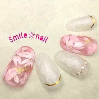 大田原定額ネイルサロン Smile☆nailのyukariです(*^^*) 4月のセレクトコースデザイン❤️ 透け感のある桜ネイル🌸 綺麗目ネイルがお好きな方にオススメです♪ ☆,。・:*:・゚'☆,。・:*:・゚'☆,。・:*:・゚' #smilenail #スマイルネイル #大田原市ネイルサロン #大田原ネイルサロン #大田原ネイル #大田原定額ネイル #ネイルサロン #ジェルネイル #セルフネイル #ネイルアート #ネイリスト #個性派ネイル #派手カワネイル #美爪 #ネイルチップ #オーダーチップ #ミンネ #minne#nailbook #桜ネイル #さくらネイル #春ネイル #ピンクネイル #オフィスネイル  ☆,。・:*:・゚'☆,。・:*:・゚'☆,。・:*:・゚' HPはプロフィールのURLから☆ #ネイルブック からご予約出来るようになりました❤️ ☆,。・:*:・゚'☆,。・:*:・゚'☆,。・:*:・゚' ラクマでピアス ミンネでネイルチップを販売してます ٩( ᐛ )و  ネイルチップ→ミンネ https://minne.com/5116ykr (スマイルネイルで検索‼︎) ピアス→ラクマ https://fril.jp/shop/Smile_bijou (スマイルビジュー ネイリストで検索‼︎) #春 #卒業式 #入学式 #オフィス #ハンド #フラワー #パール #シースルー #ホイル #オーロラ #ミディアム #ホワイト #ピンク #ゴールド #ジェル #ネイルチップ #Smile☆nail #ネイルブック