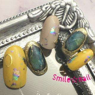 大田原定額ネイルサロン Smile☆nailのyukariです(*^^*) 4月のセレクトコースデザイン❤️ キラキラ感がたまらないグリーンの天然石ネイル💎 新色のマスタードカラーでトレンド感たっぷり😍 虹色のアートホイルで華やかなお手元に✨ ☆,。・:*:・゚'☆,。・:*:・゚'☆,。・:*:・゚' #smilenail #スマイルネイル #大田原市ネイルサロン #大田原ネイルサロン #大田原ネイル #大田原定額ネイル #ネイルサロン #ジェルネイル #セルフネイル #ネイルアート #ネイリスト #個性派ネイル #派手カワネイル #美爪 #ネイルチップ #オーダーチップ #ミンネ #minne #nailbook #春ネイル #天然石ネイル #ストーンアート #マスタードカラー  ☆,。・:*:・゚'☆,。・:*:・゚'☆,。・:*:・゚' HPはプロフィールのURLから☆ #ネイルブック からご予約出来るようになりました❤️ ☆,。・:*:・゚'☆,。・:*:・゚'☆,。・:*:・゚' ラクマでピアス ミンネでネイルチップを販売してます ٩( ᐛ )و  ネイルチップ→ミンネ https://minne.com/5116ykr (スマイルネイルで検索‼︎) ピアス→ラクマ https://fril.jp/shop/Smile_bijou (スマイルビジュー ネイリストで検索‼︎) #春 #リゾート #デート #女子会 #ハンド #ラメ #大理石 #ホイル #ミディアム #ベージュ #イエロー #グリーン #ジェル #ネイルチップ #Smile☆nail #ネイルブック